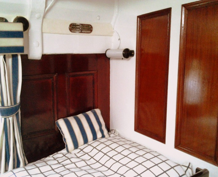 French polished panelling with art deco cabin light