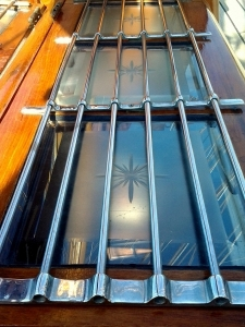 Engraved glass skylights